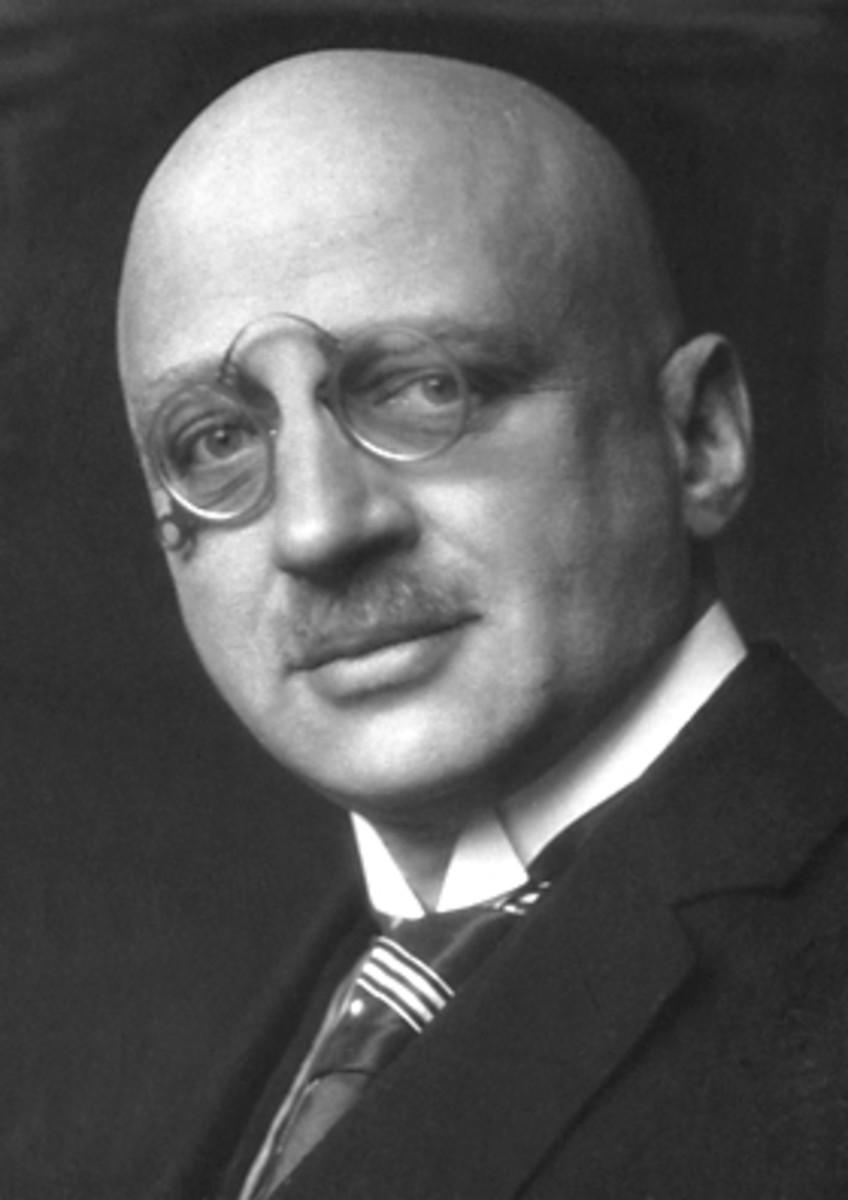 Fritz Haber (1868 - 1934) German Chemist, Nobel Prize Winner, Father of Chemical Warfare. Circa 1919.