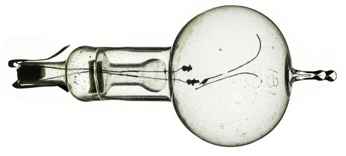 Original carbon-filament bulb from Thomas Edison circa 1879.