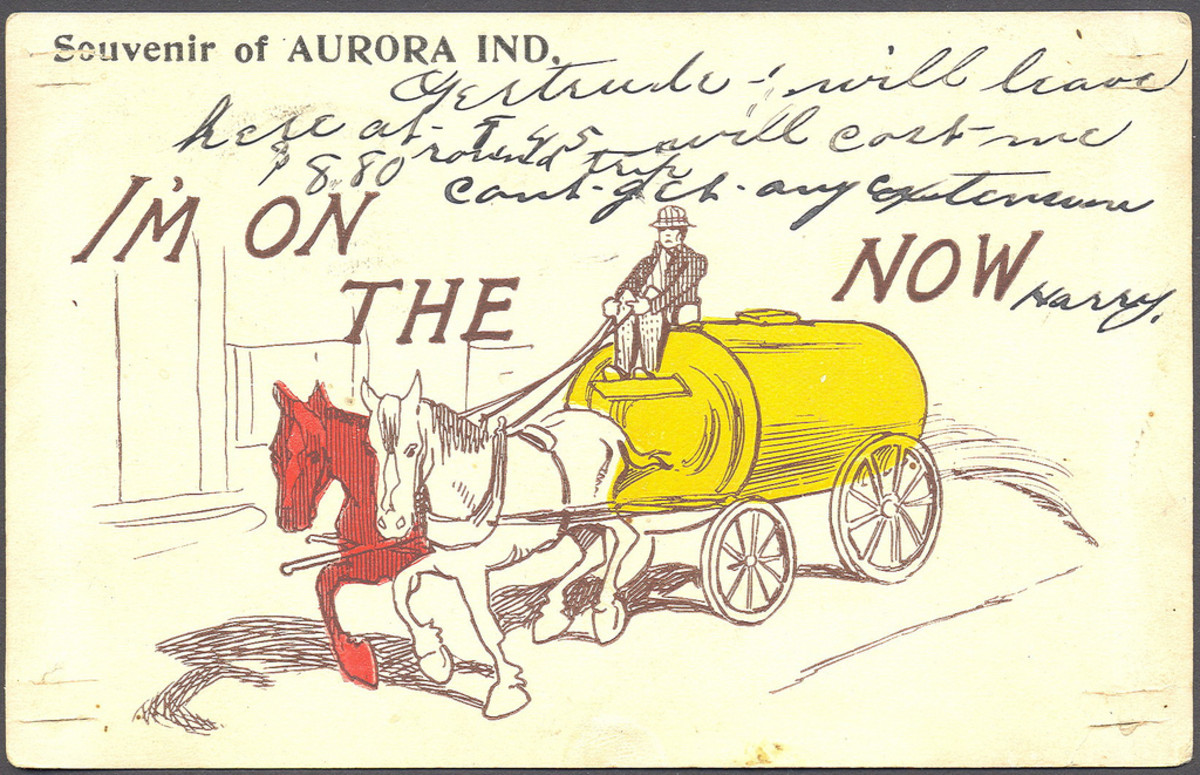 Some people claim the phrase comes from water wagons used to keep down dust on unpaved roads.