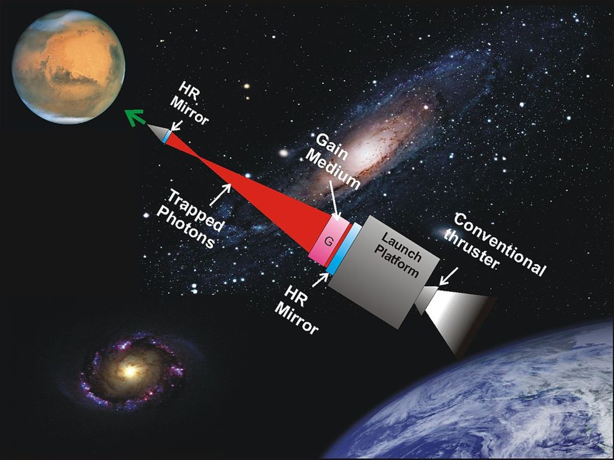 A photonic laser thruster could be used to routinely propel people and goods across space.