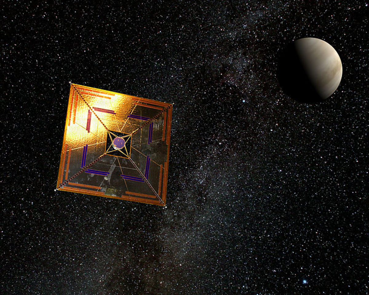 A light sail spacecraft could travel at one fifth the speed of light, and reach other solar systems in as little as twenty years.