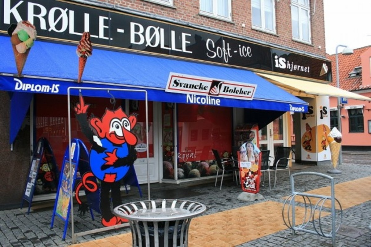 Krølle Bølle makes an appearance in Svaneke.