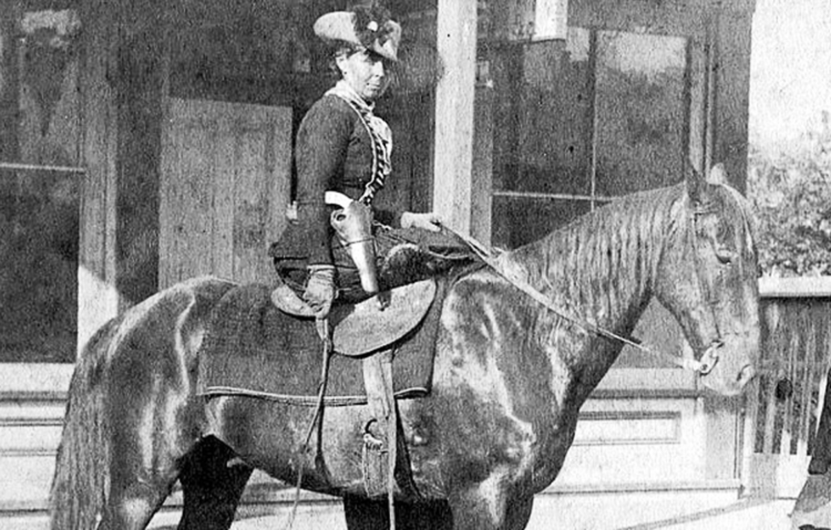 Belle Starr married a Cherokee man and made a living bootlegging and selling stolen horses.