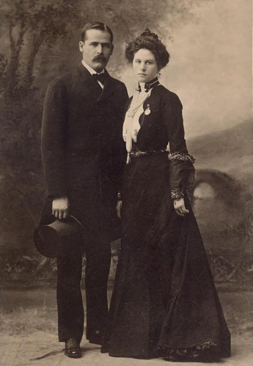 Here Etta Place is pictured with the Sundance Kid. Her true story and identity remain a mystery.