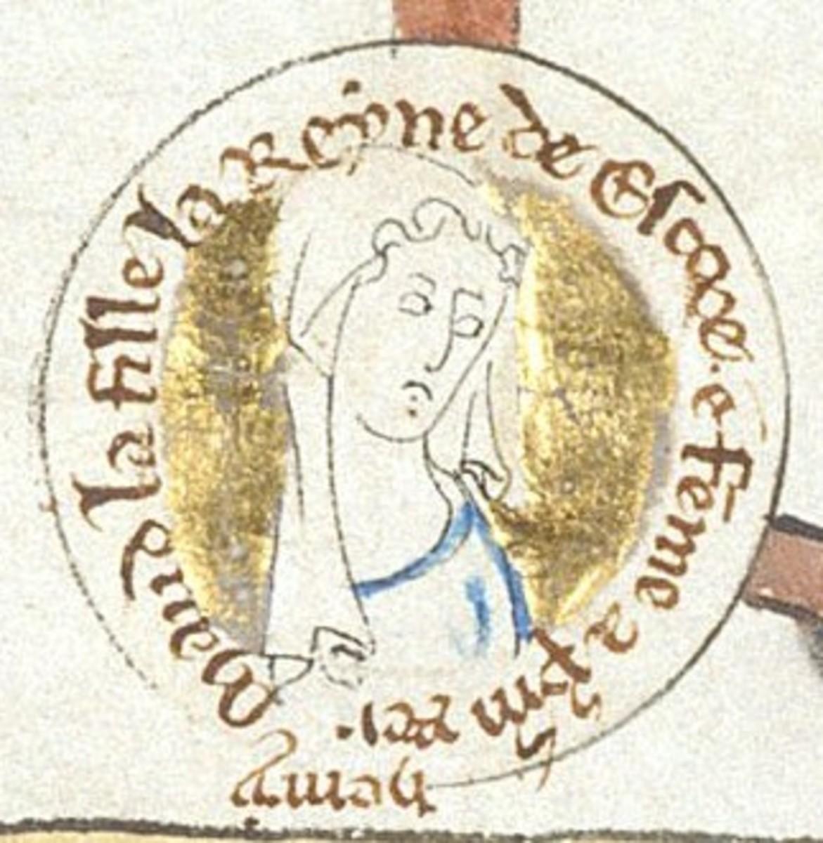 13th century depiction of Matilda.