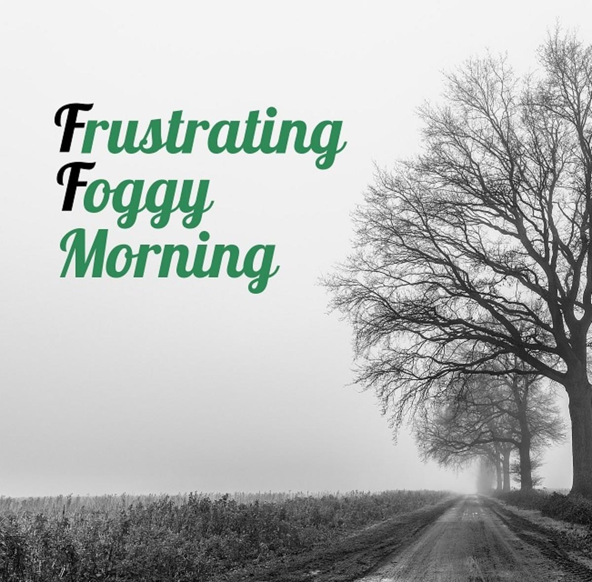 Frustrating Foggy Morning