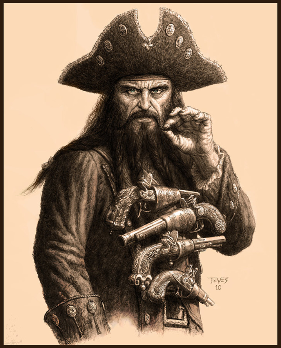 Captain Blackbeard , whose sketch bears a curious resemblance to Al Swearengen from Deadwood. ( Both characters were played by Ian McShane ;-)