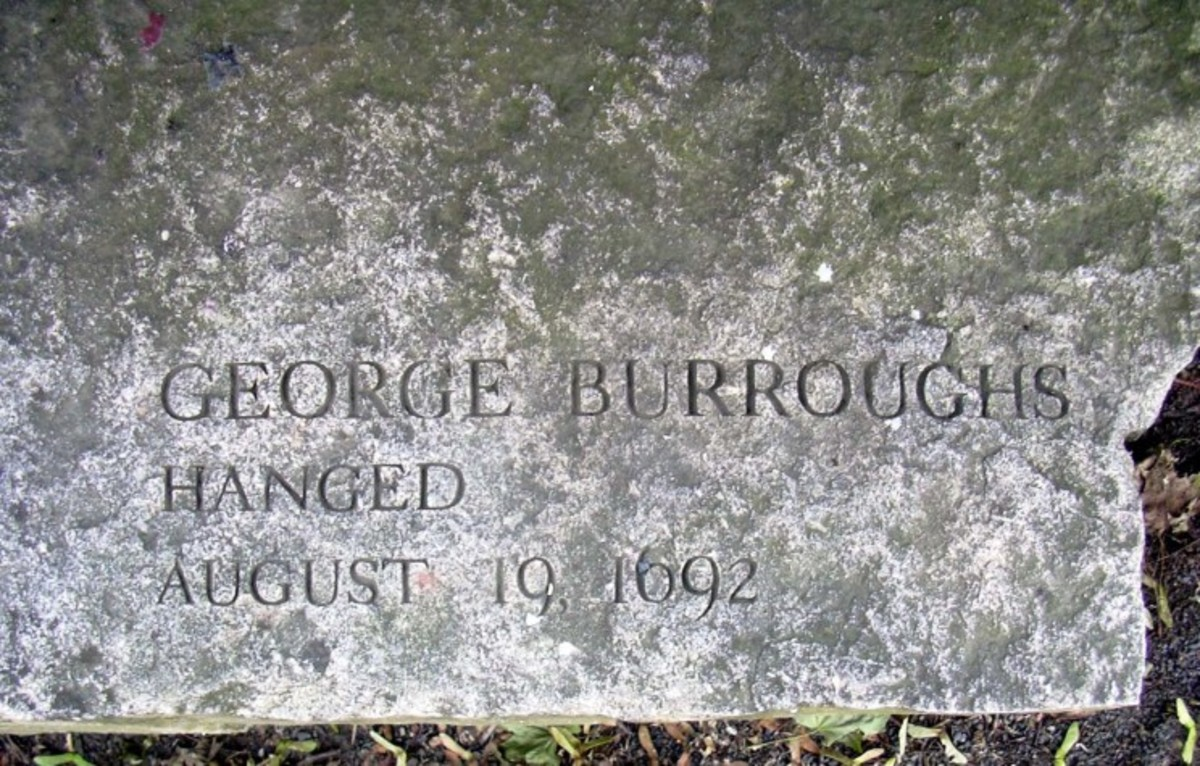Bench in memory of George Burroughs at the Salem Witch Trials Memorial, Salem, Massachusetts. Photo by Emerson W. Baker.