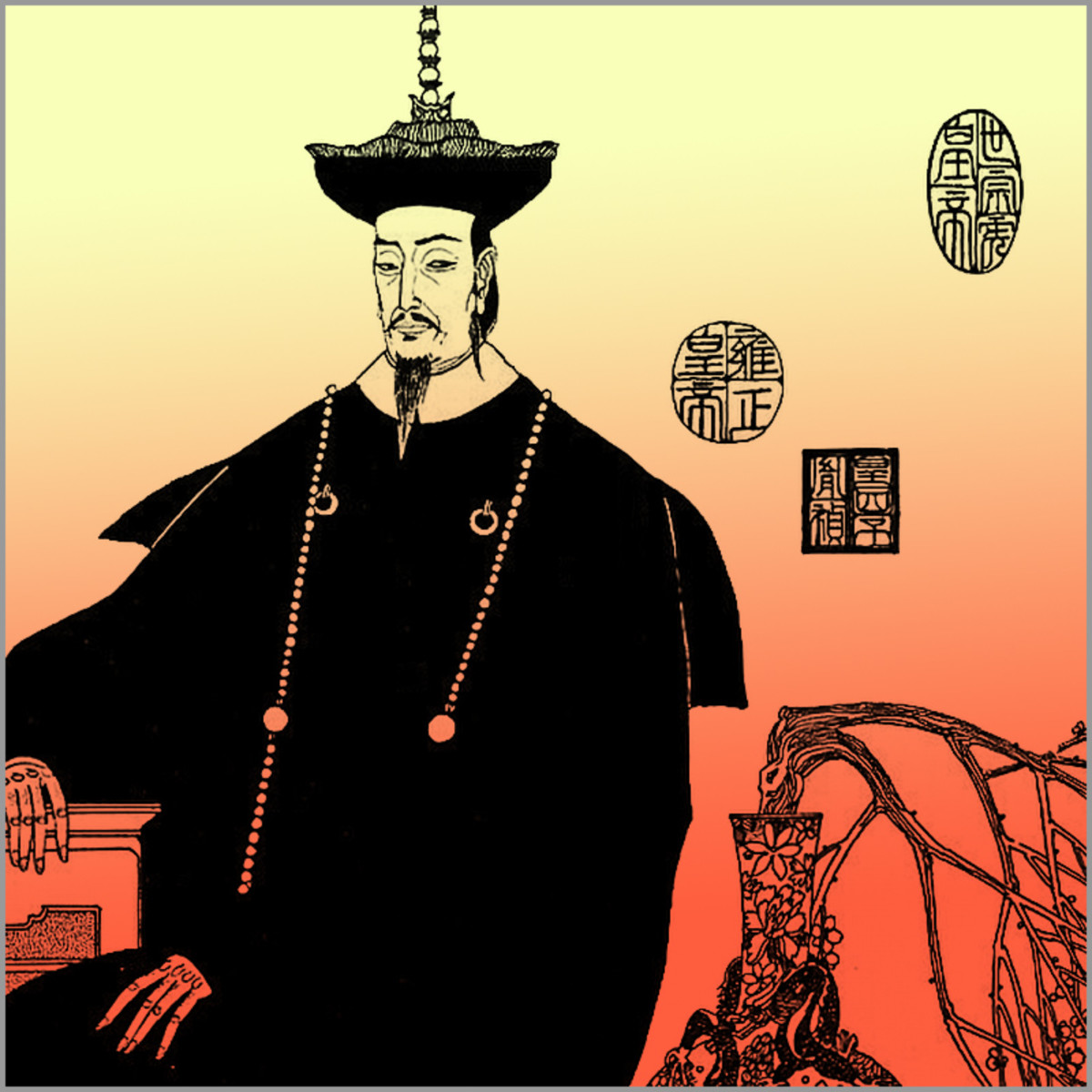 Emperor Yongzheng. Often maligned as a bloodthirsty monster in Chinese pulp fiction.