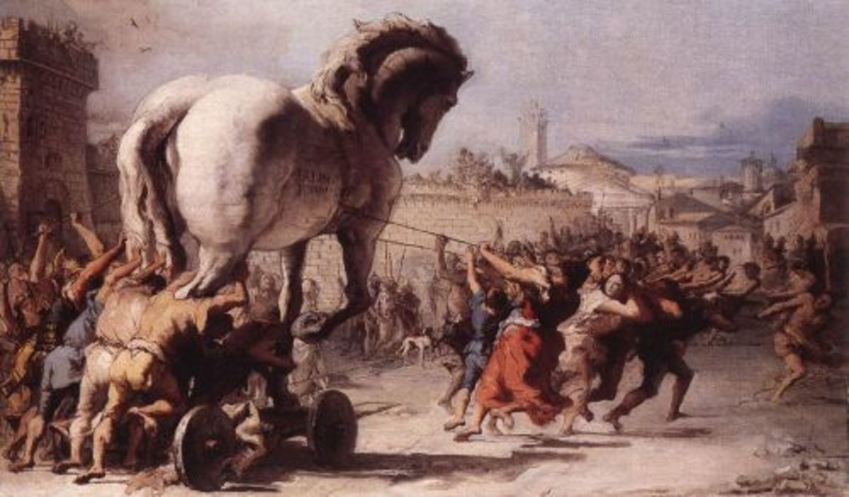 The Procession of the Trojan Horse in Troy, 1773 by Giovanni Domenico Tiepolo.