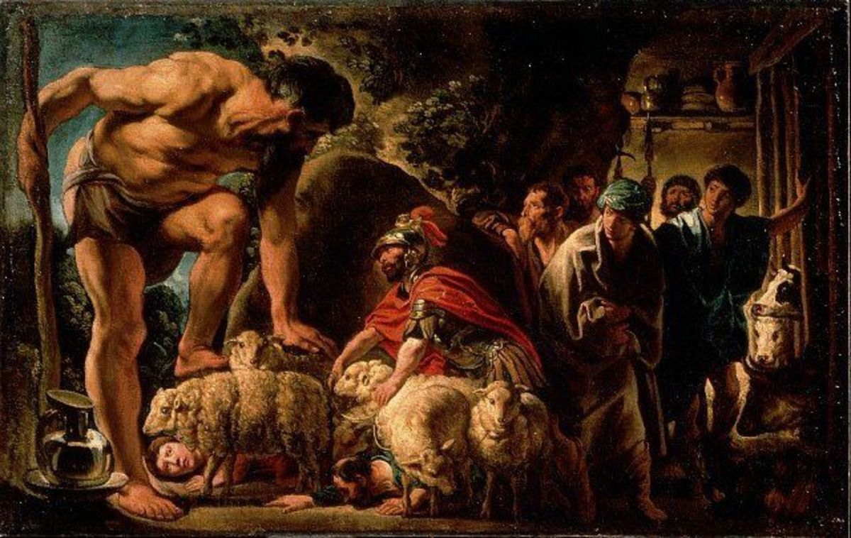 jordaens ulises en la cueva de polifemo 1630