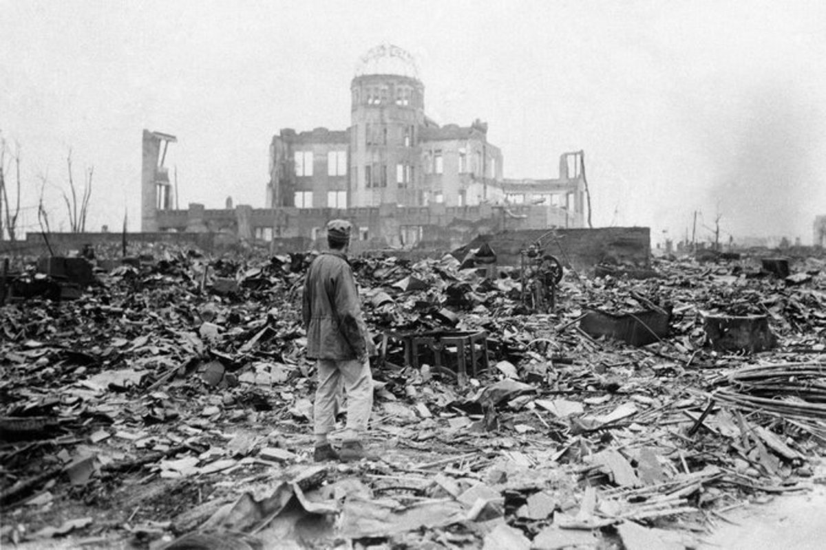 Hiroshima, Japan, in September 1945, a month after the detonation of an atomic bomb. Credit Stanley Troutman/Associated Press.