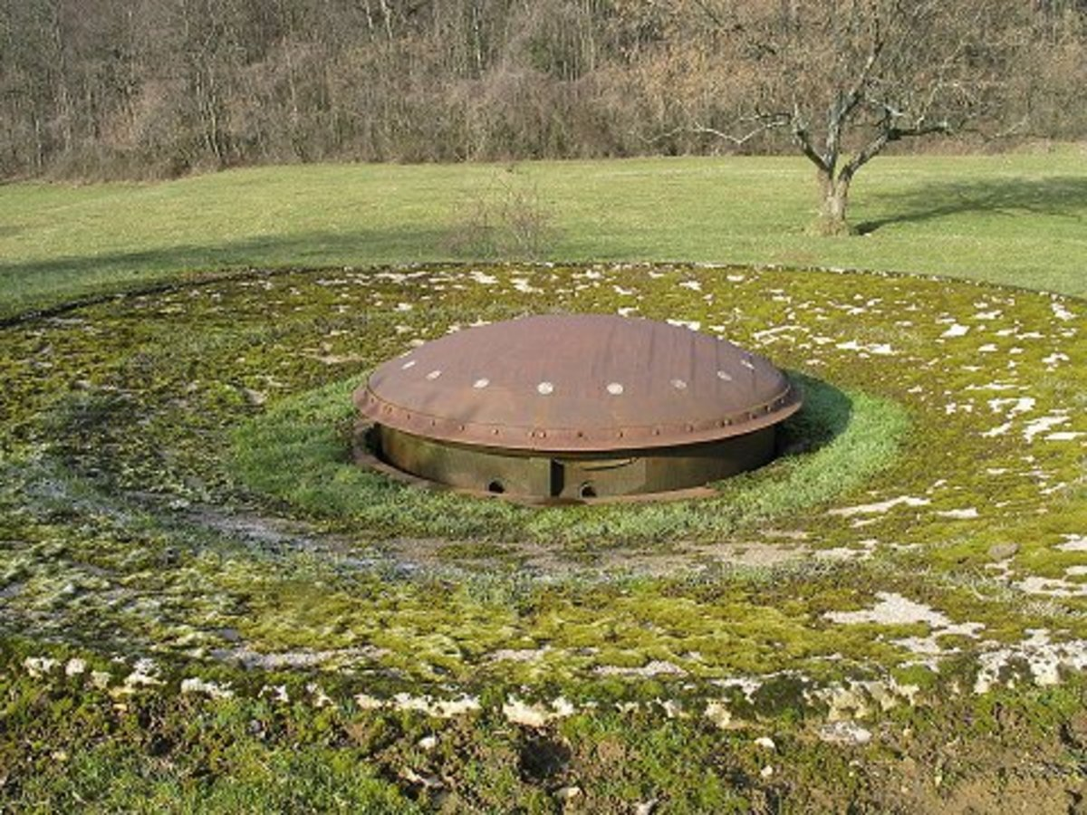 81mm gun turret part of the Maginot Line today.
