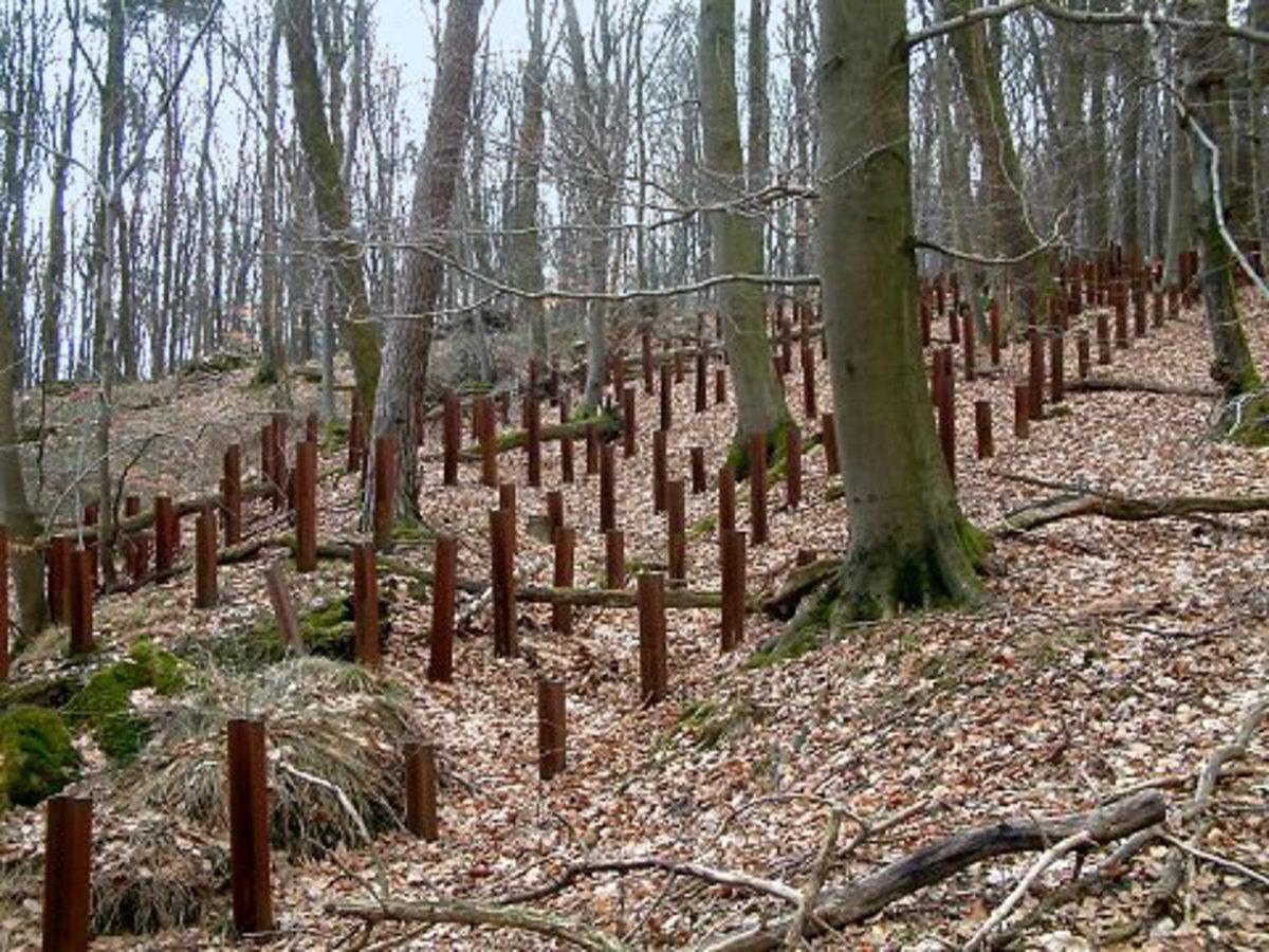 Anti-tank defense part of the Maginot Line.