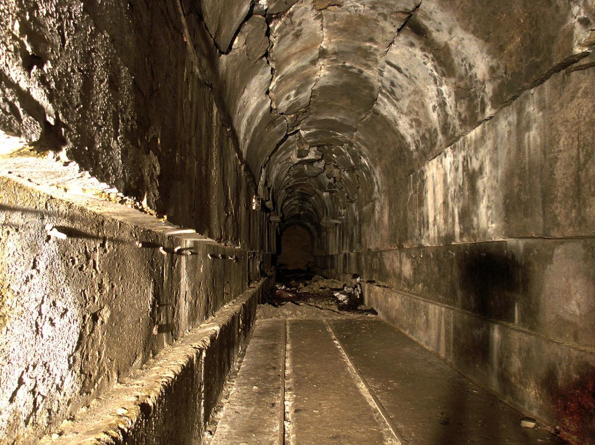 Corridor inside the Maginot Line.