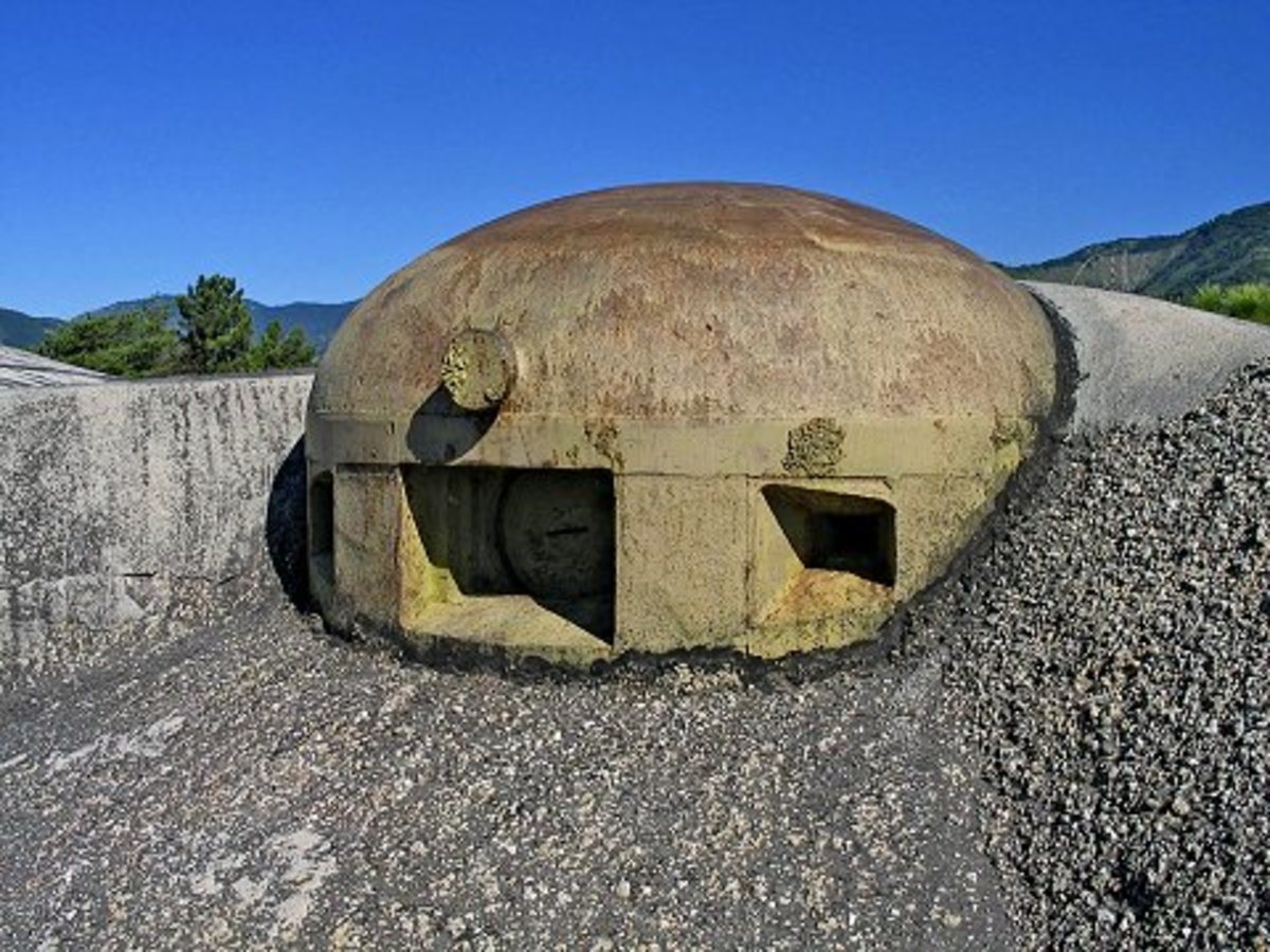 135mm gun turret part of the Maginot Line today.