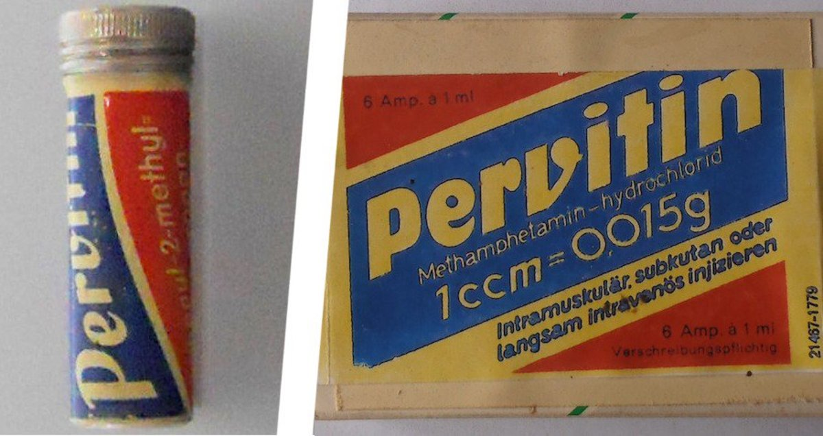 The stimulant Pervitin was delivered to German soldiers at the front, it was pure methamphetamine. Many of the Wehrmacht's soldiers were high on Pervitin when they went into battle, especially against Poland and France.