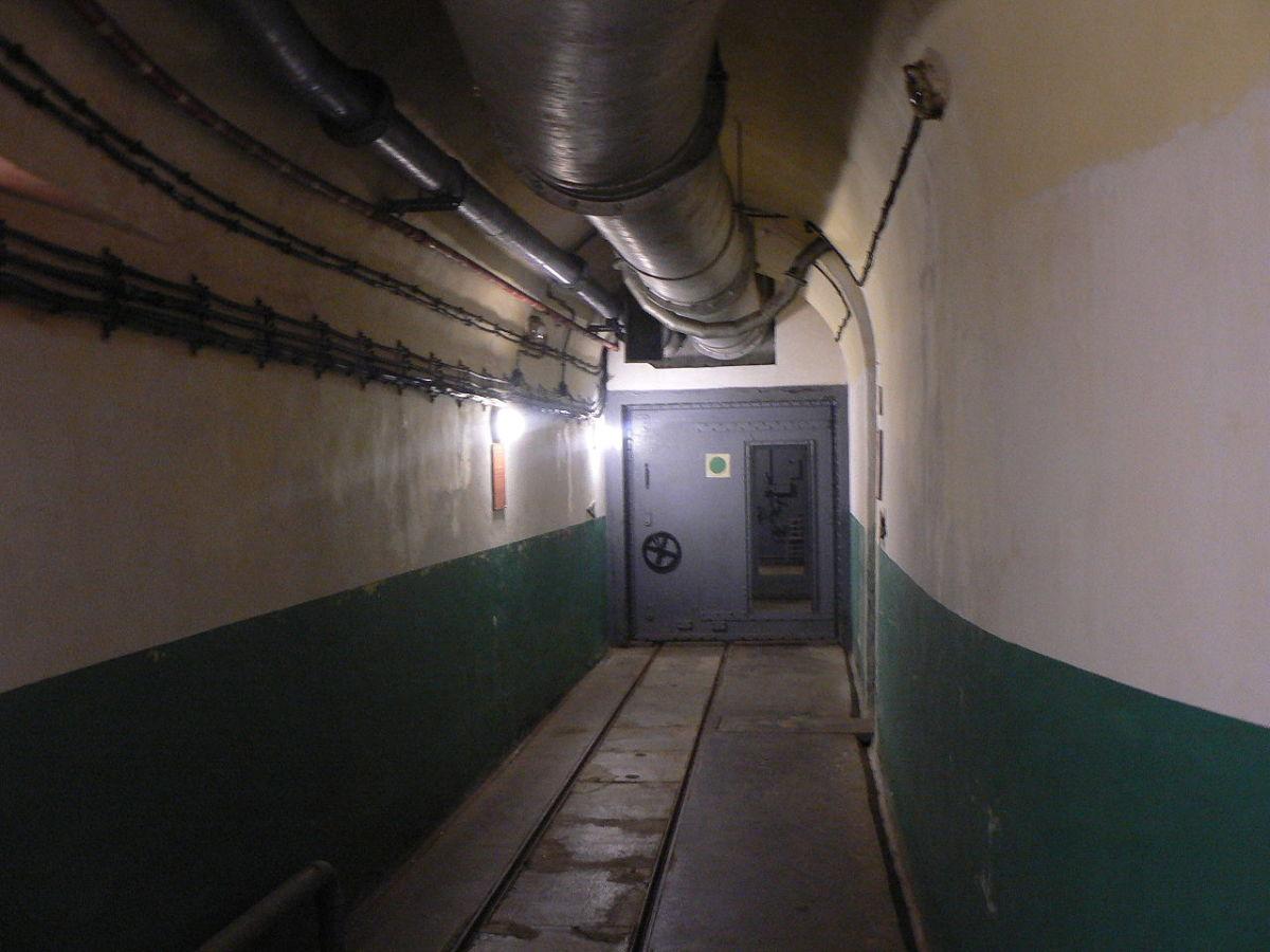 Corridor inside the Fort Saint-Gobain near Modan in the Alps.