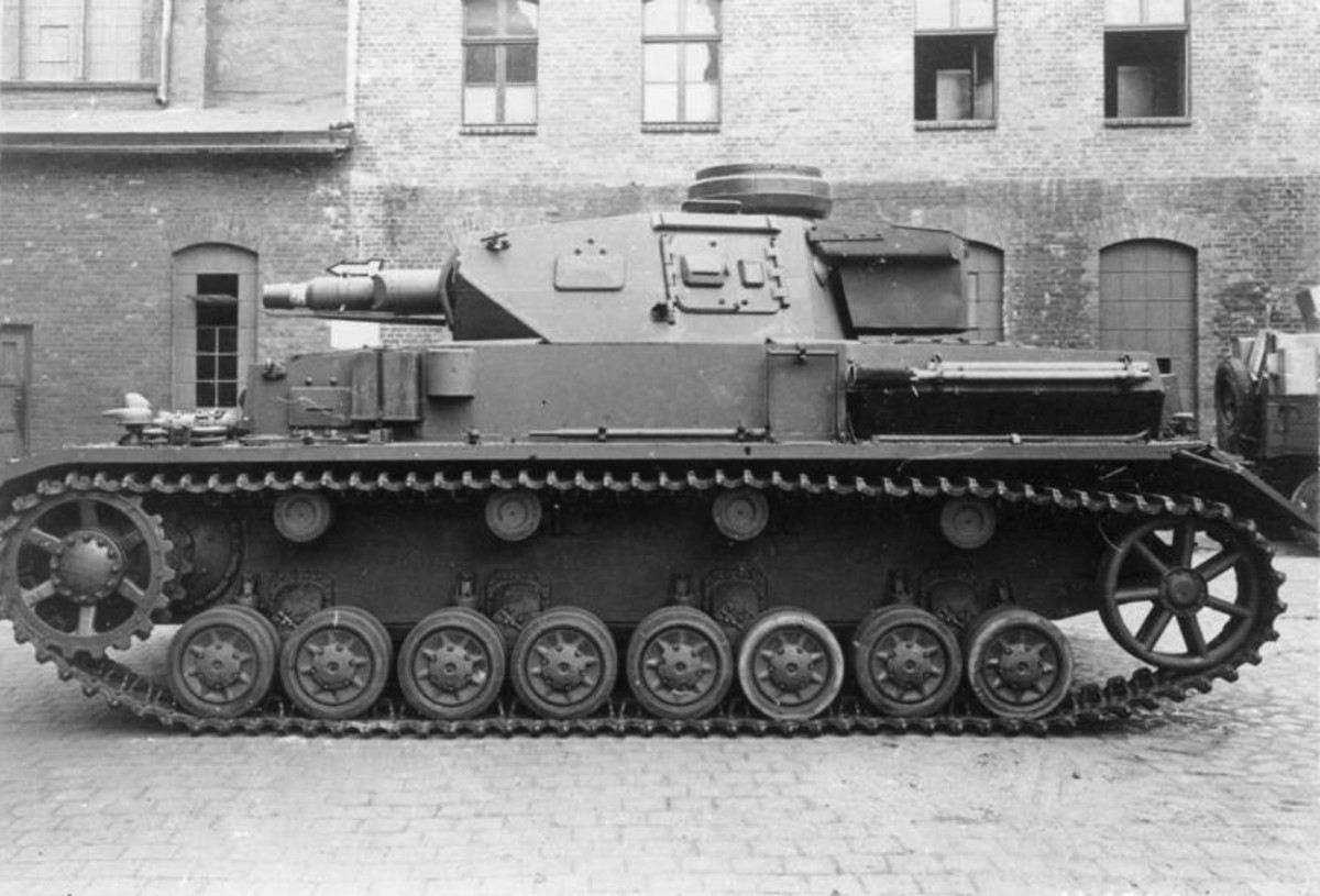The Panzer IV the heaviest German tank in the German Army with a short barrel 75mm cannon.