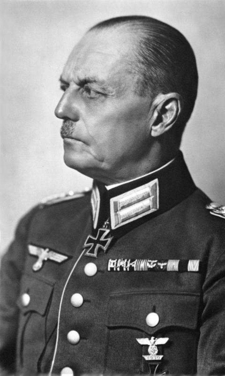 Field Marshal Gerd von Rundstedt commanded Army Group A during the Battle of France 1940.