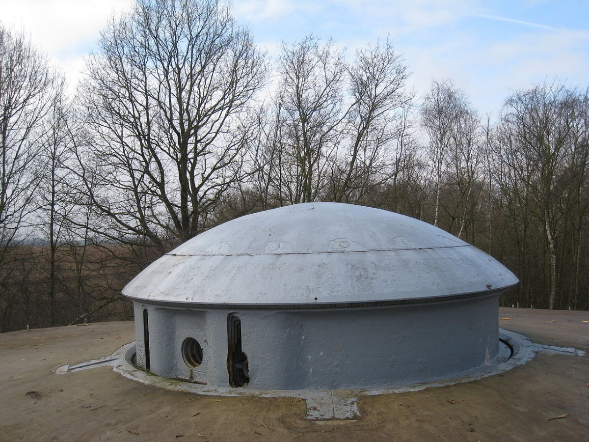 A gun turret at Fort Eben Emael to day 70 years after the battle.