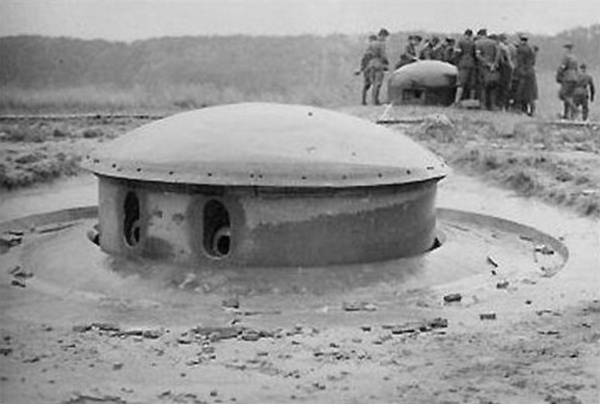 Gun turret in 1930 part of the Maginot Line.