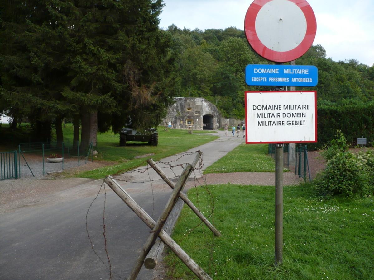 Entrance to Fort Eben Emael's headquarters building.