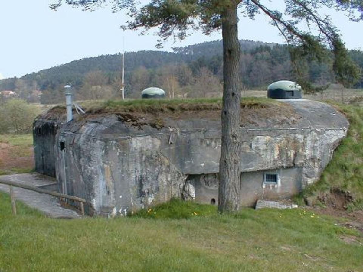 Machine-gun bunker part of the Maginot Line over 70 years after the Fall of France.