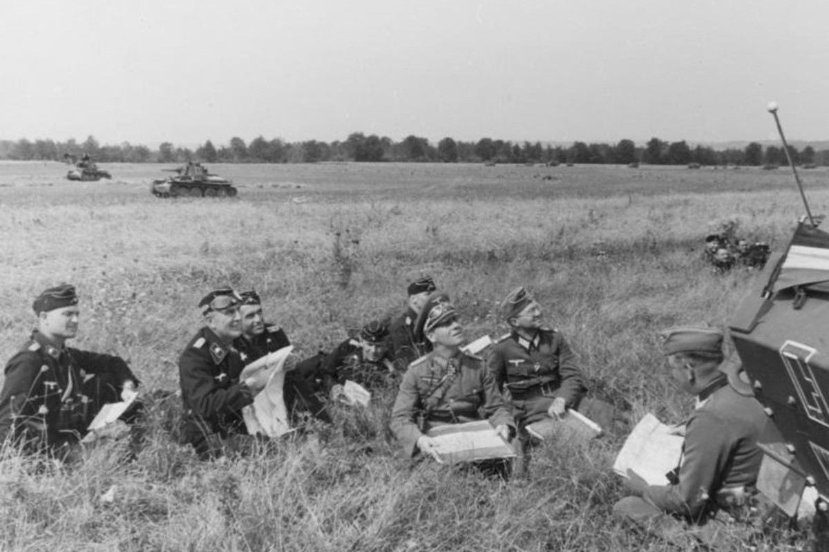 Rommel watching dogfights on the Western Front summer 1940.