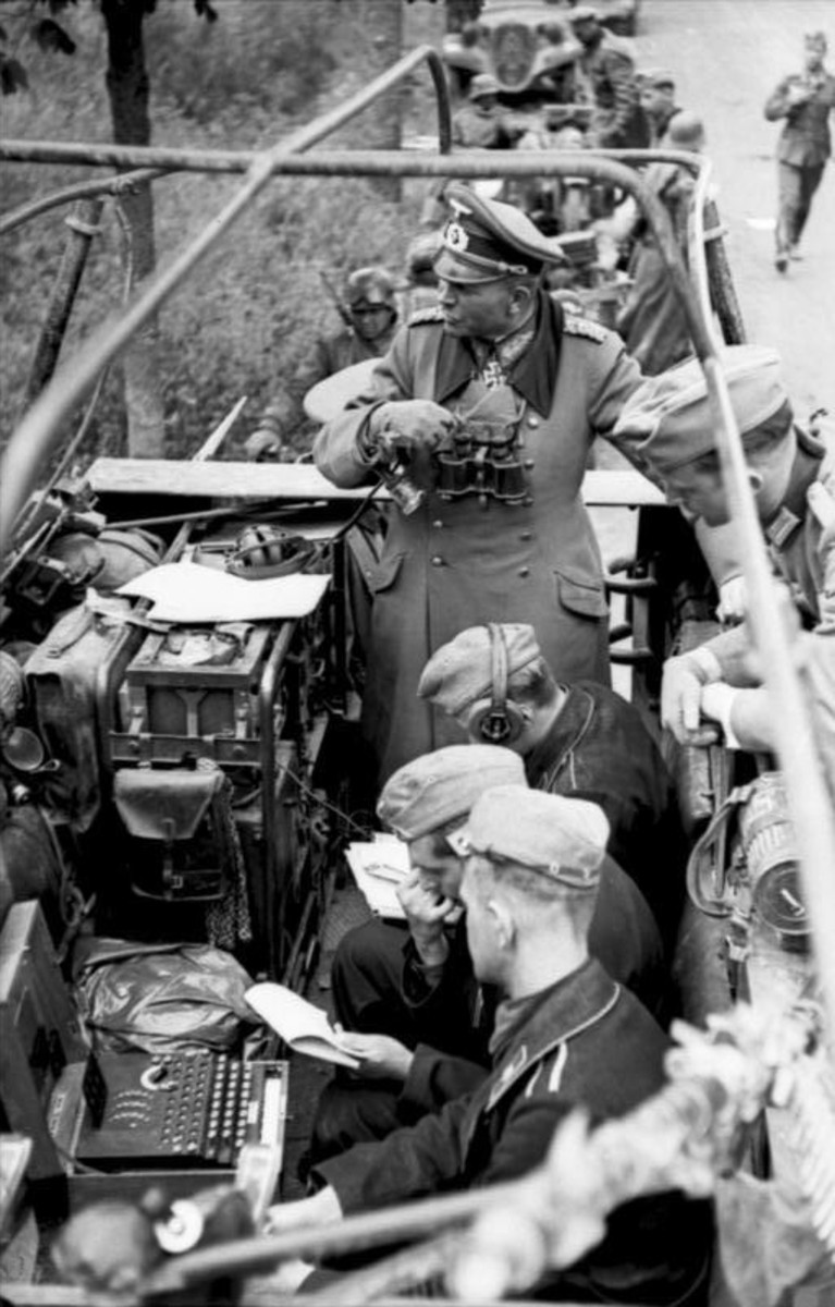 Heinz Guderian close-up of his command car during the Battle of France.