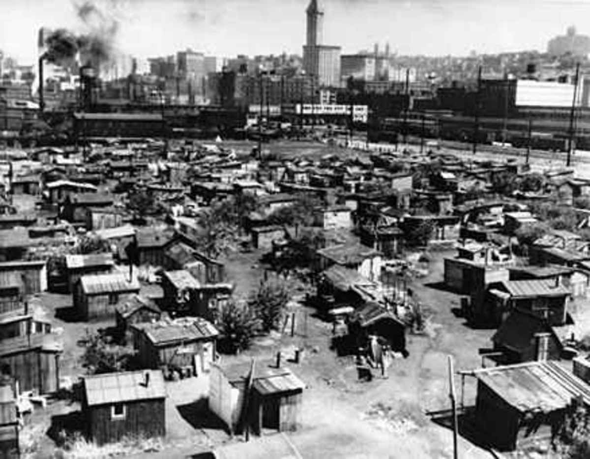A Hooverville.