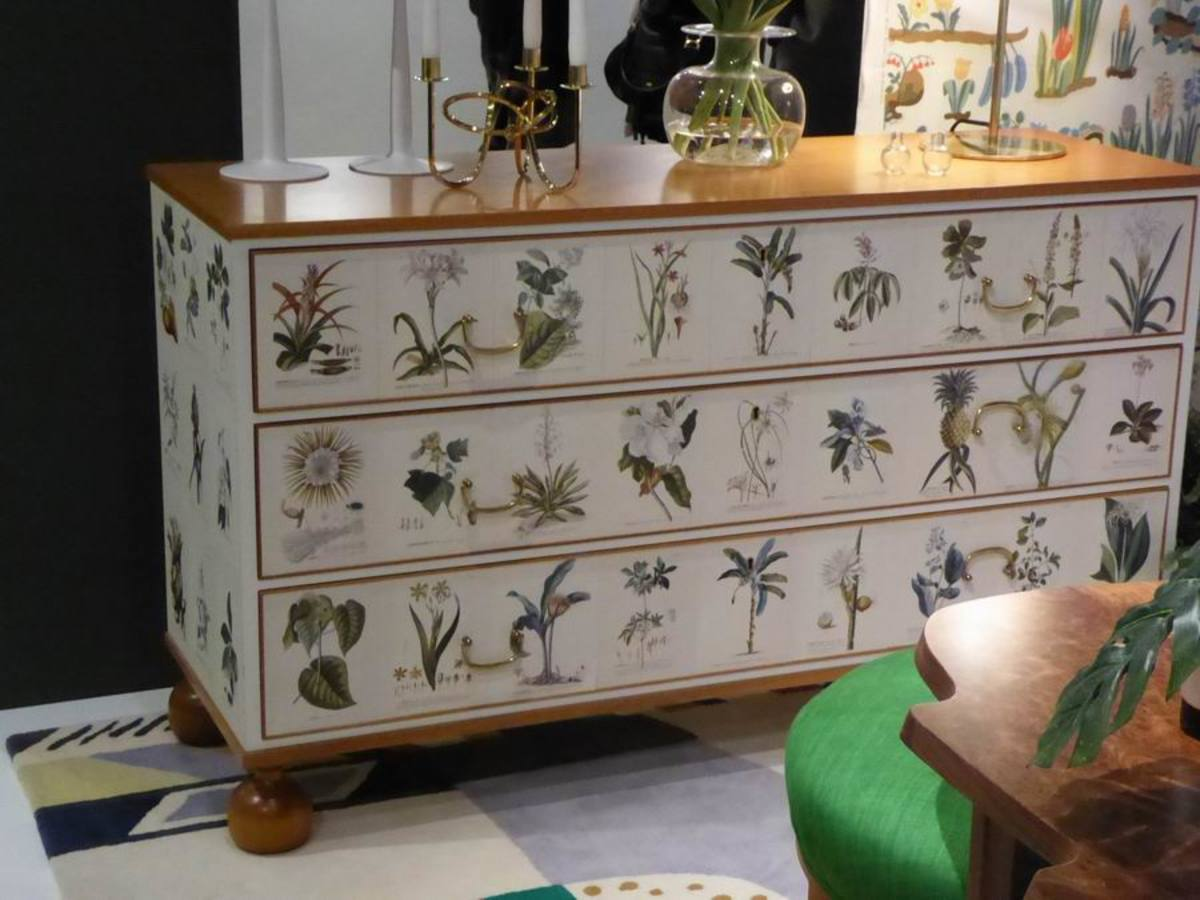 Sideboard with Decoupage Drawers by Josef Frank. Copyright image by Frances Spiegel with permission from the Fashion and Textile Museum. All rights reserved.