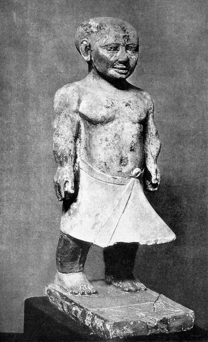 A limestone statue of Khnumhotep