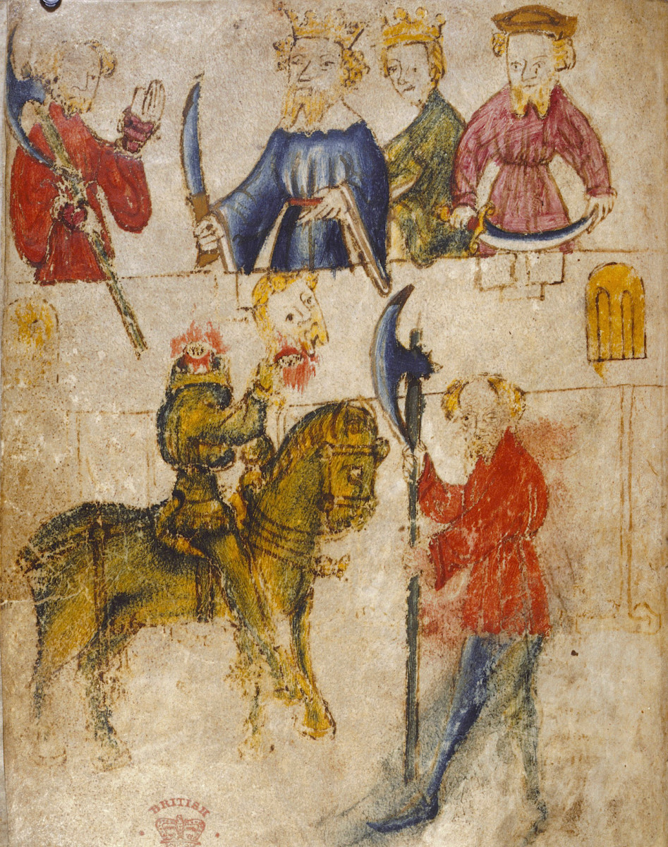 Sir Gawain And The Green Knight from Original Manuscript - Unknown Creator