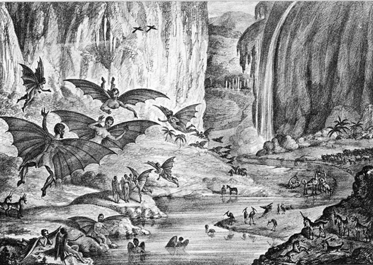 "Life on the Moon as ""seen"" by Sir John Herschel."