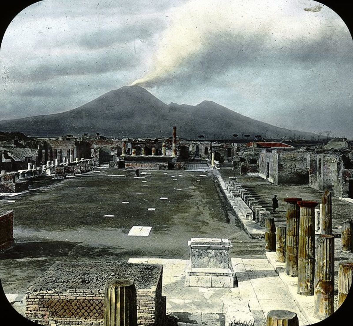 Pompeii with Mt. Vesuvius in the background