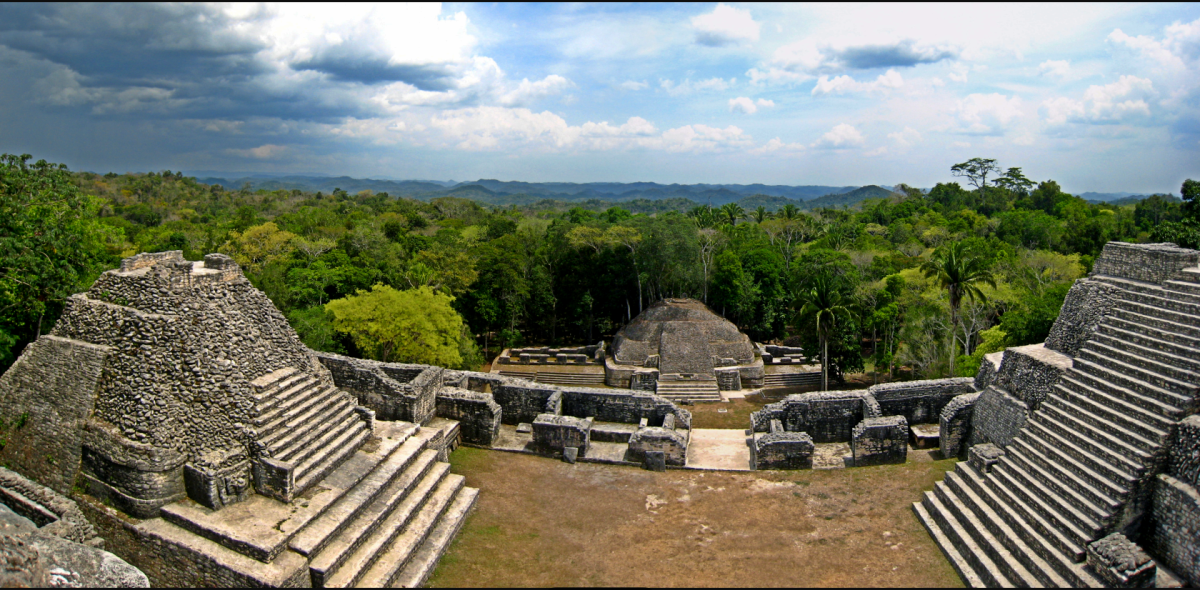 Panoramic view atop Caracol