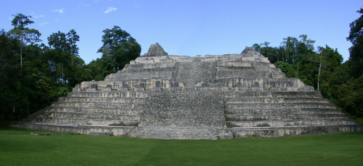 Caana pyramid or temple at Caracol