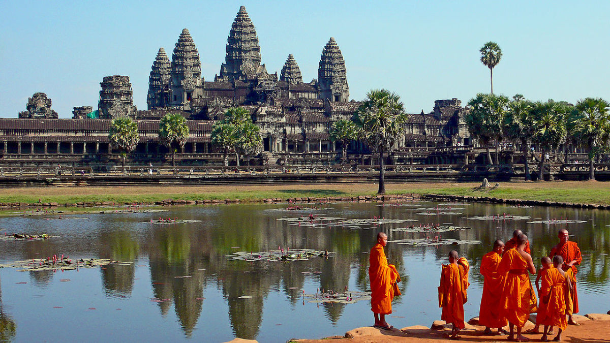 Buddhist monks at Angkor