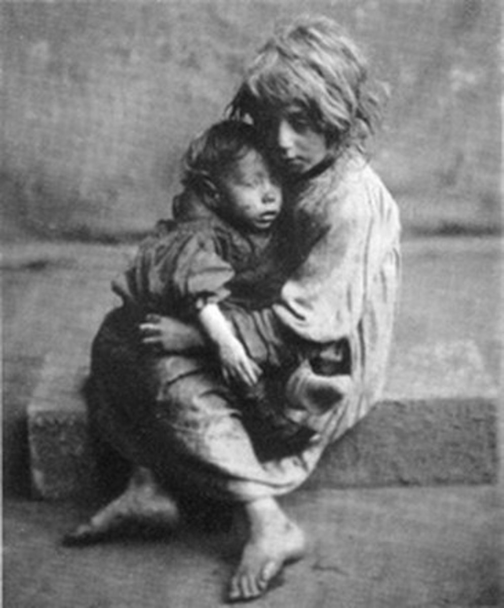Slum children in London about 1890. Ripe for exploitation.