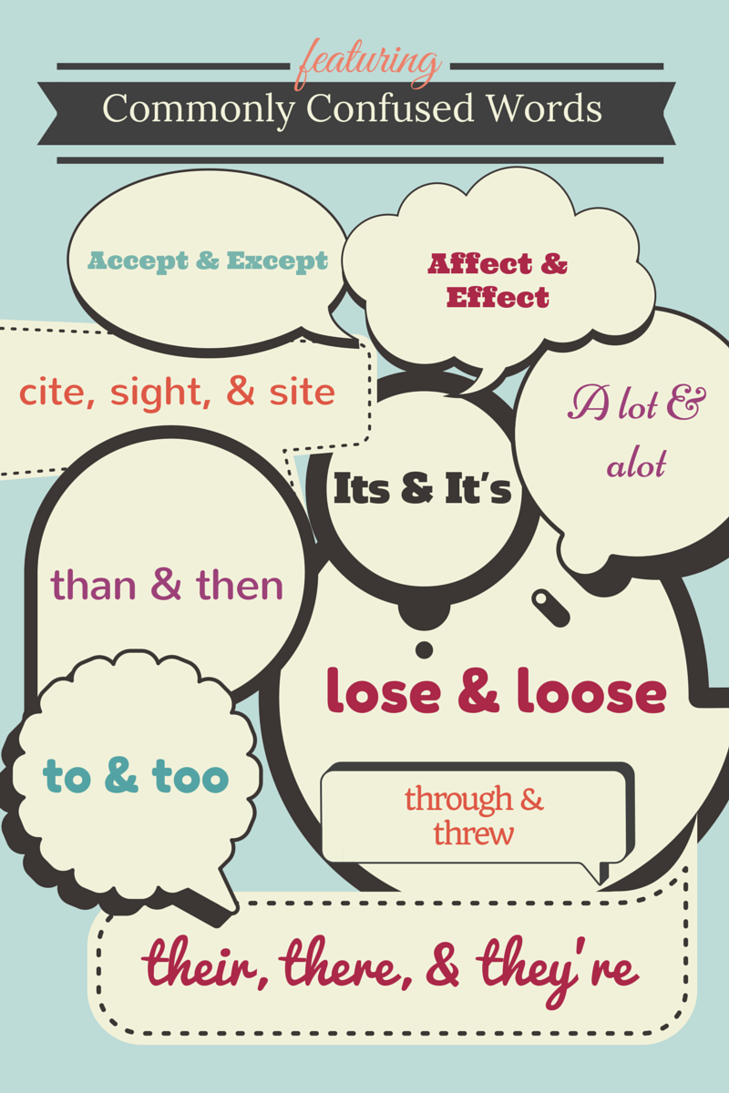 "Learn these commonly confused words. Hint: ""alot"" isn't a word."