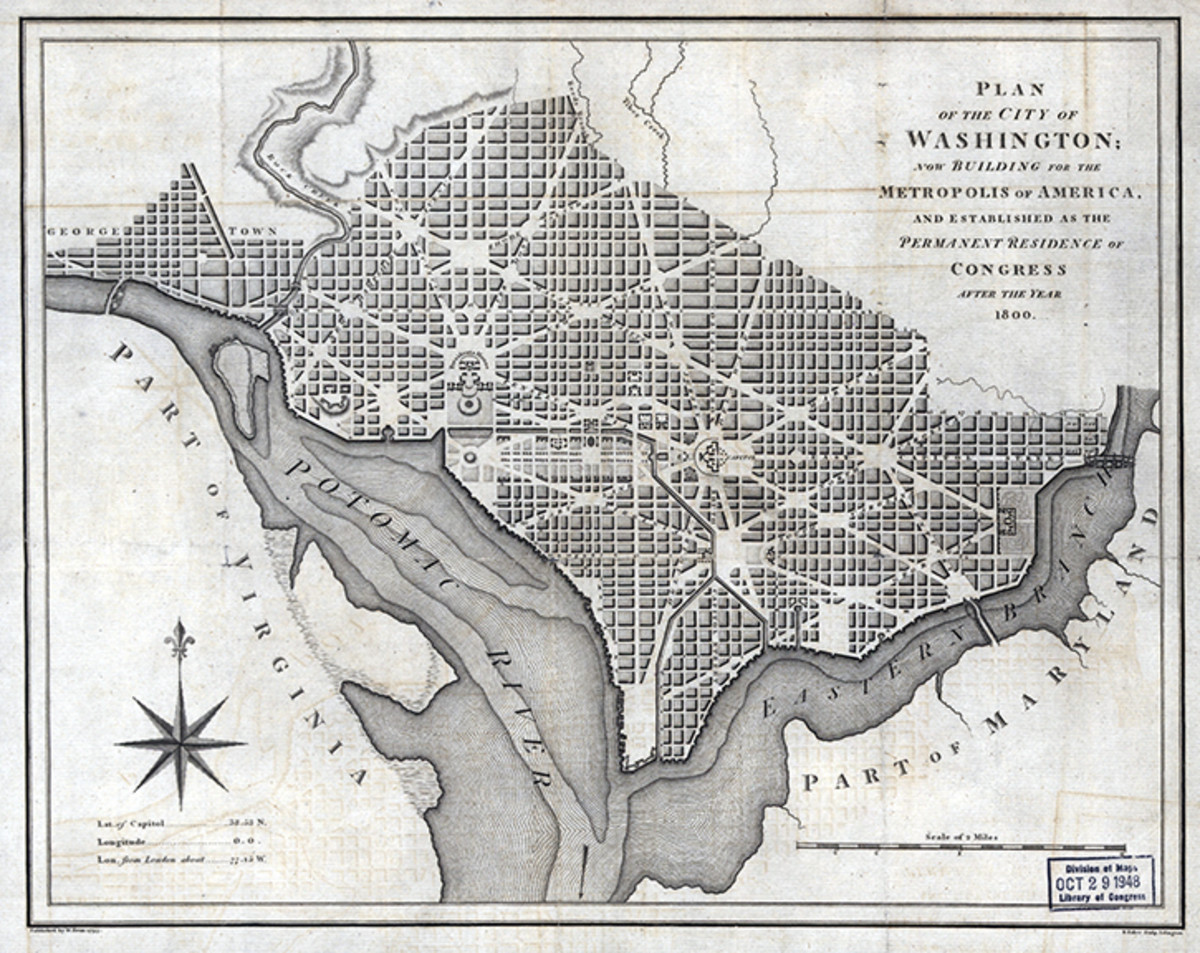 The 1793 plan for Washington, D.C.