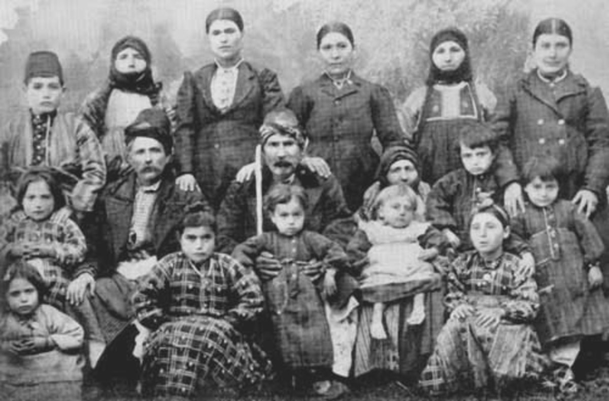 An Armenian family in 1911, soon to endure terrible horrors.