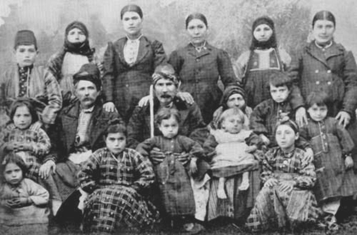 An Armenian family in 1911, soon to endure terrible horrors.