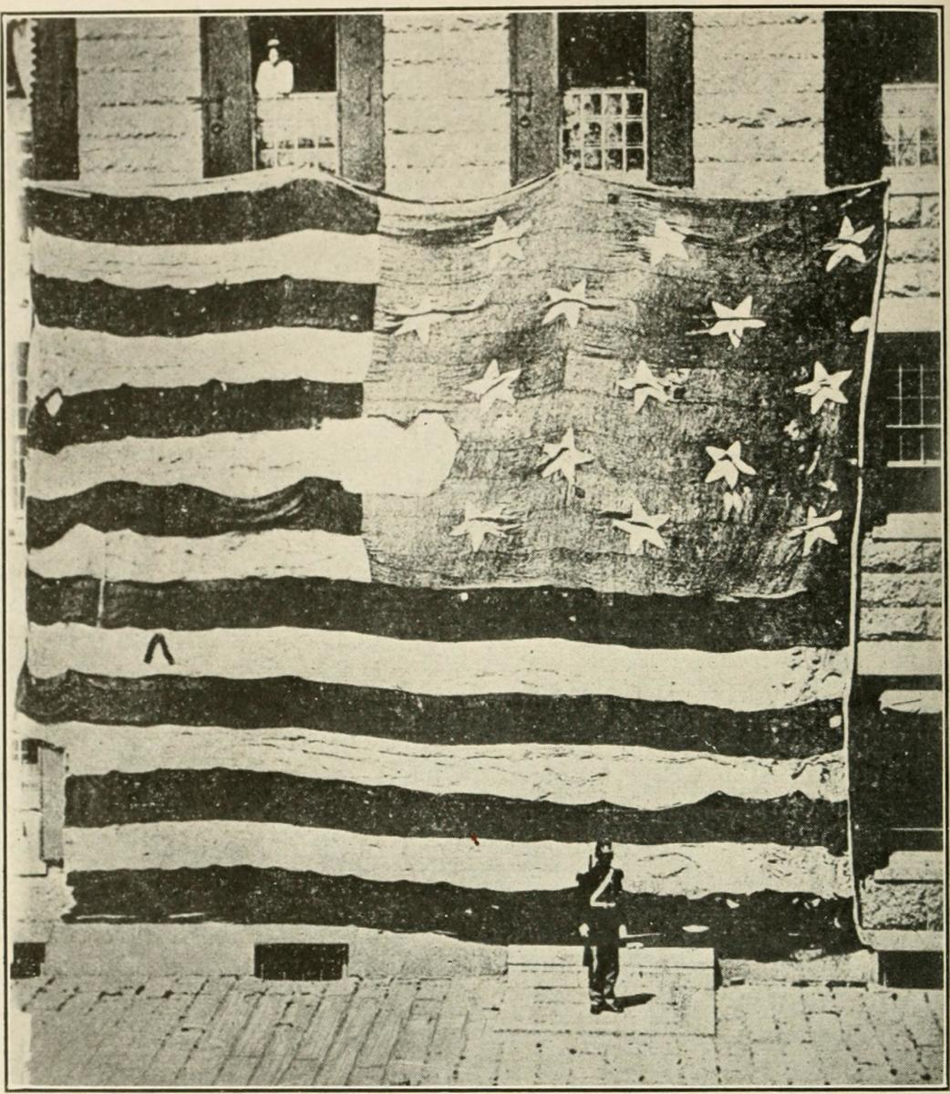 The original Fort McHenry flag measured 30 by 42 feet. The flag was designed so that opposing forces could the flag from afar.