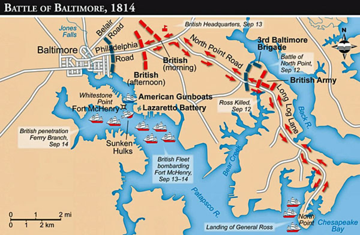Map for the Battle of Baltimore