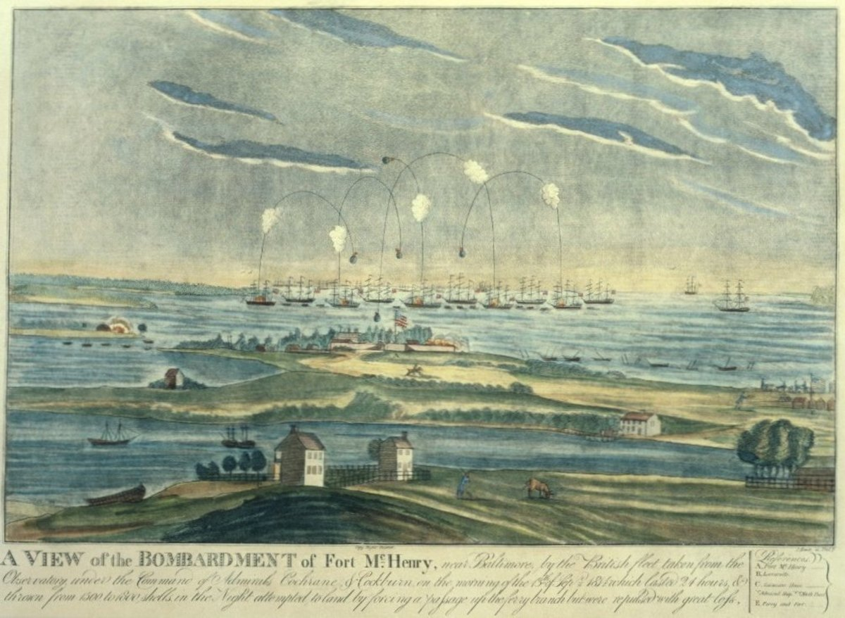 Bombardment of Fort McHenry in September of 1814