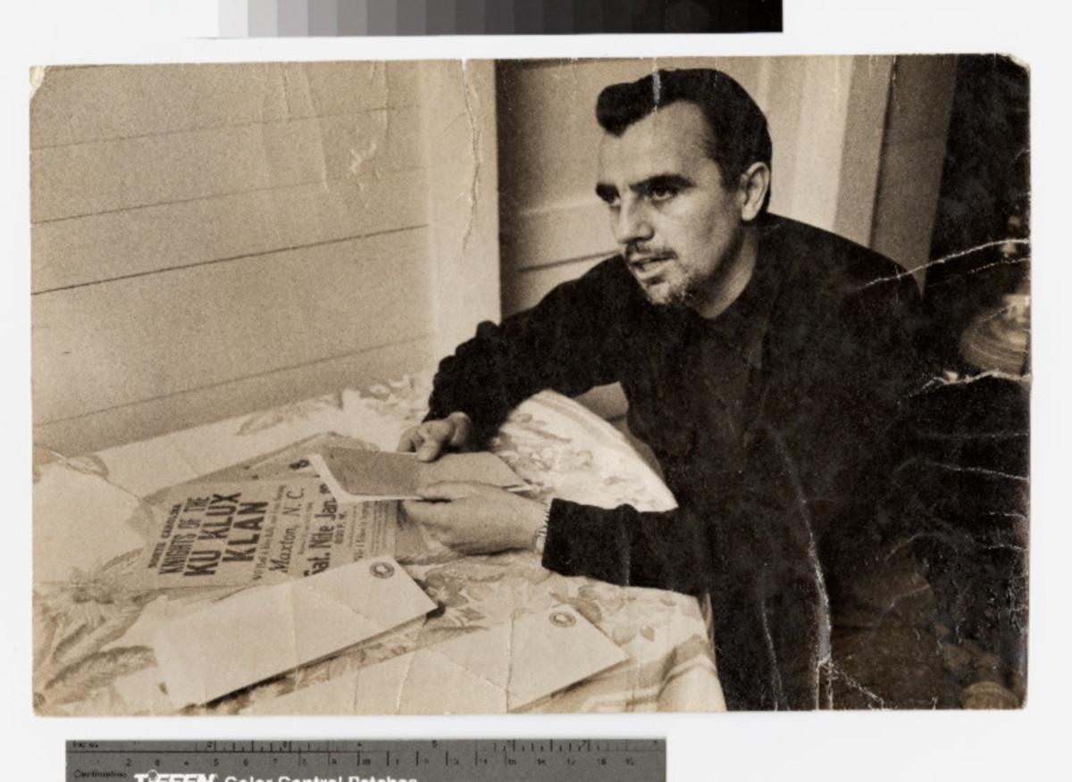 """Klan leader James W. """"Catfish"""" Cole"""