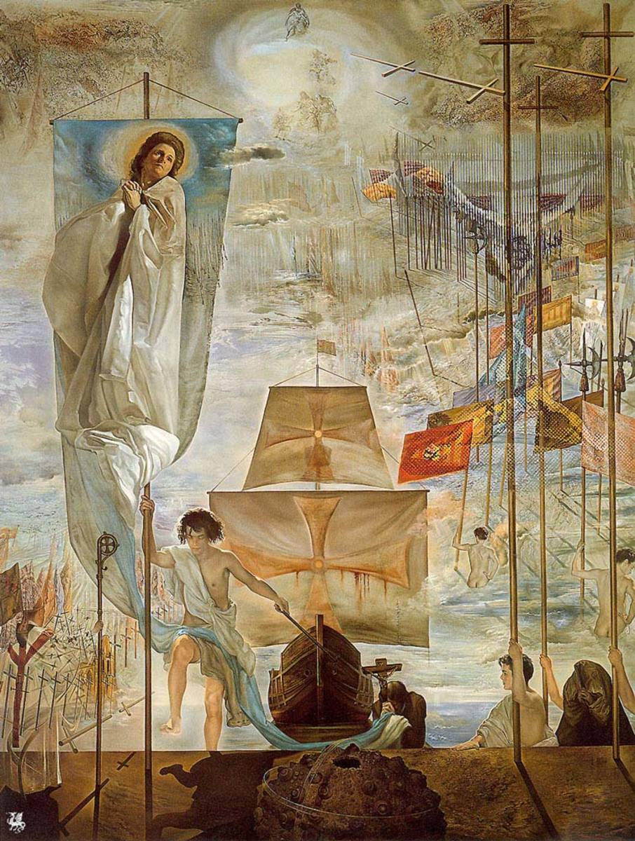 The Discovery of America by Salvador Dali, a 20th century Spanish painter of the Surrealistic style.