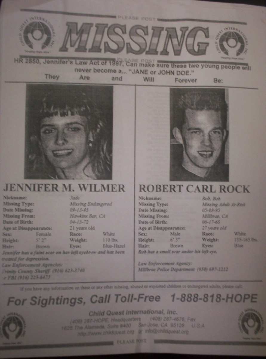 Jennifer Wilmer vanished from the northern California town of Arcata.
